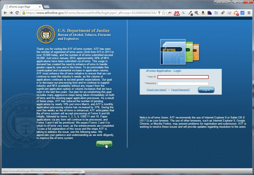 ATF eForms Home Page