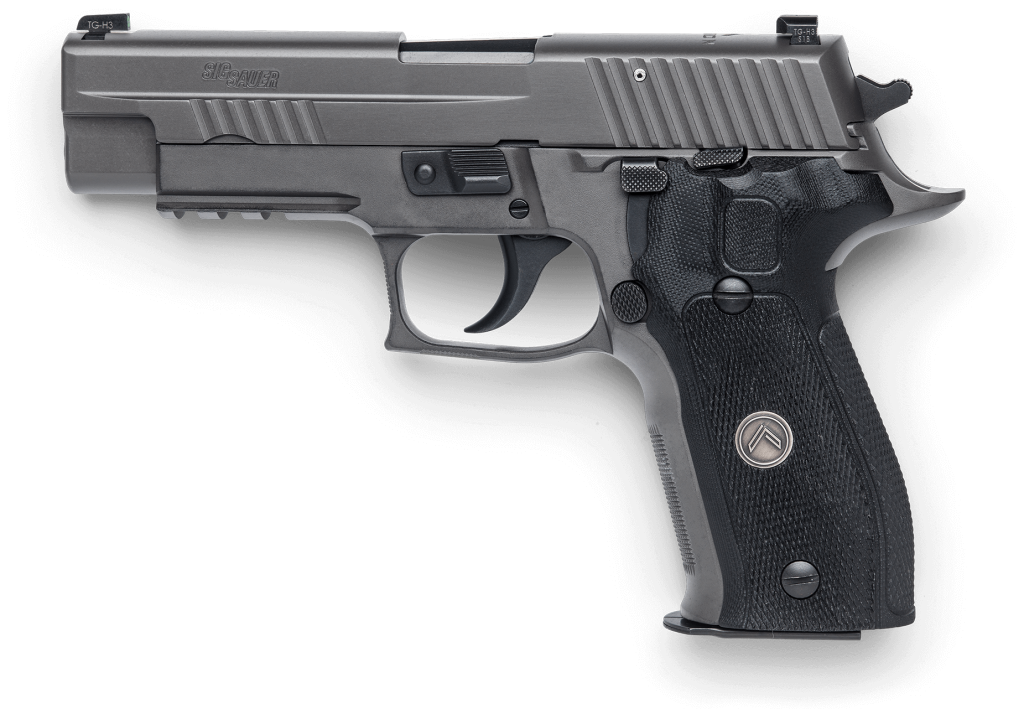 Custom Hogue G10 grips on the P226 Legion