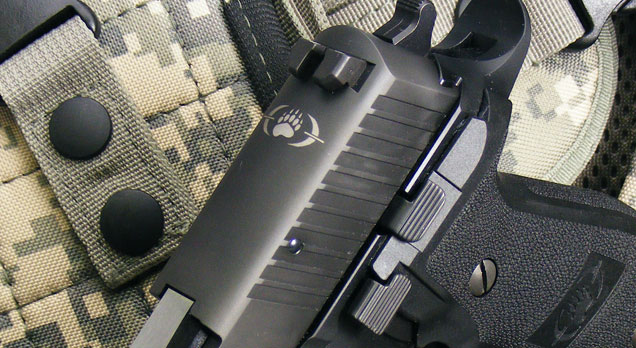 Updated Blackwater logo on the P226 Blackwater Tactical slide