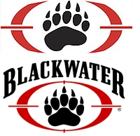 2007 updated Blackwater logo on top, original Blackwater logo on bottom