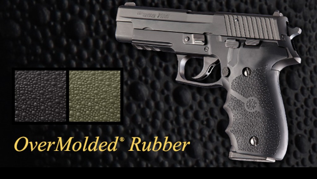 Hogue's rubber grips are a popular choice among P226 owners looking for something to hold on to