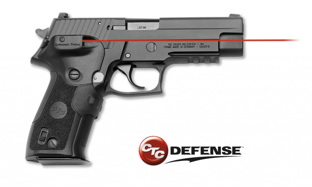 The Crimson Trace CTC Defense LGD-426C emits visible and IR laser.