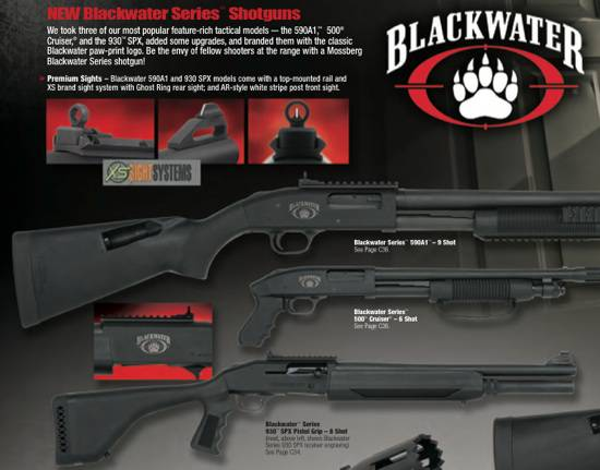 Mossberg Blackwater Series shotguns