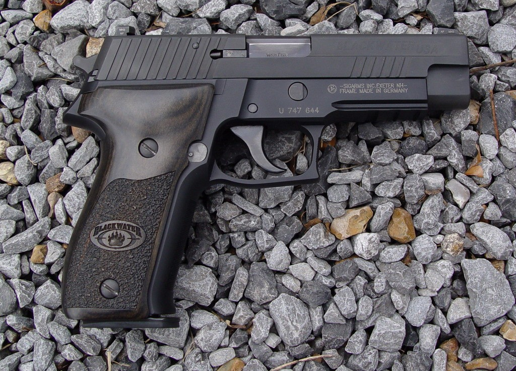 Original P226 Blackwater Special Edition. Note the original Blackwater logo.