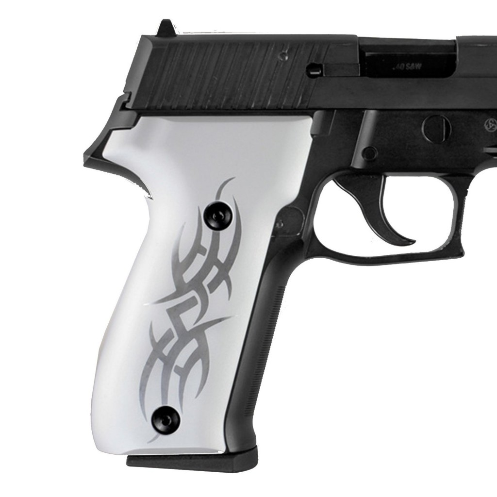 P226 aluminum grips with tribal pattern