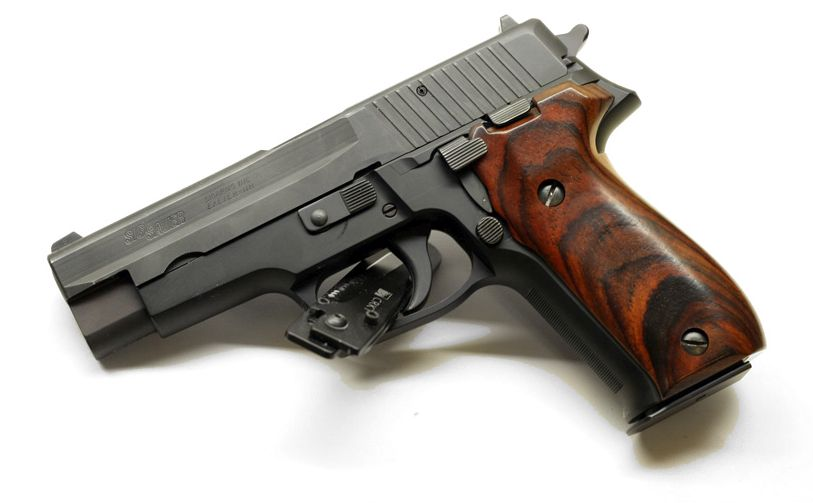SIG P226 with smooth wood grips