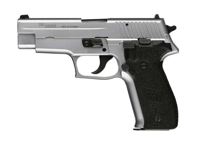 Stainless P226 with black grips