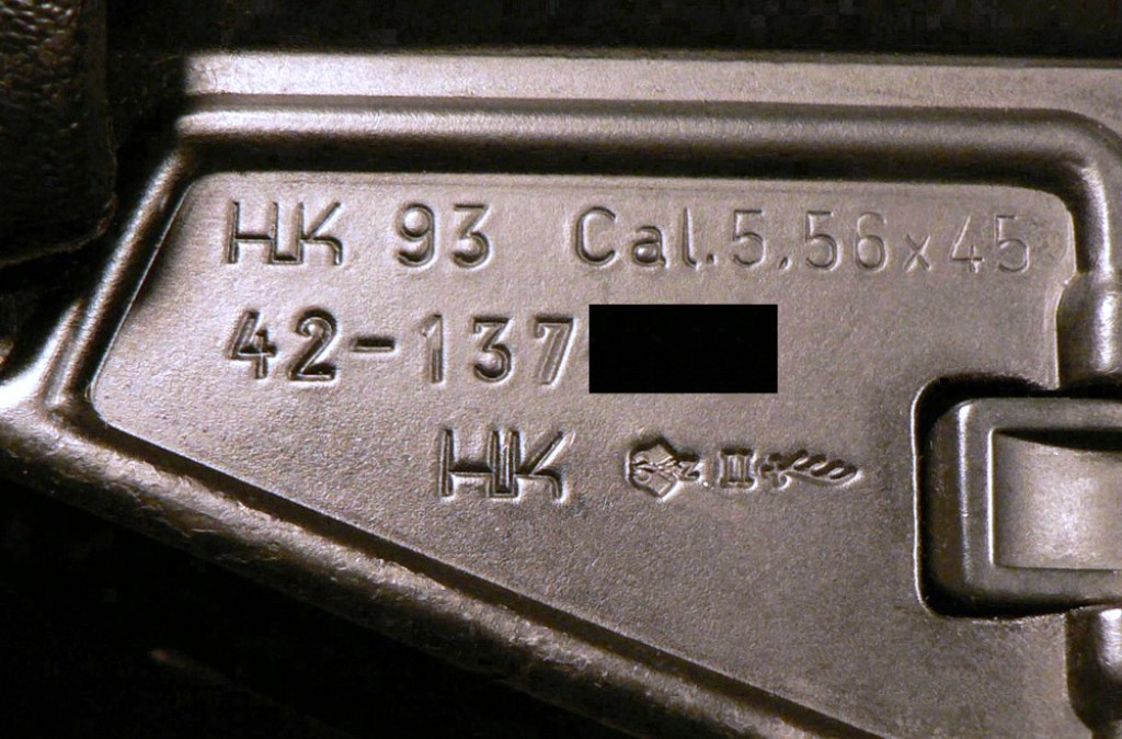 H&K 93 proof marks
