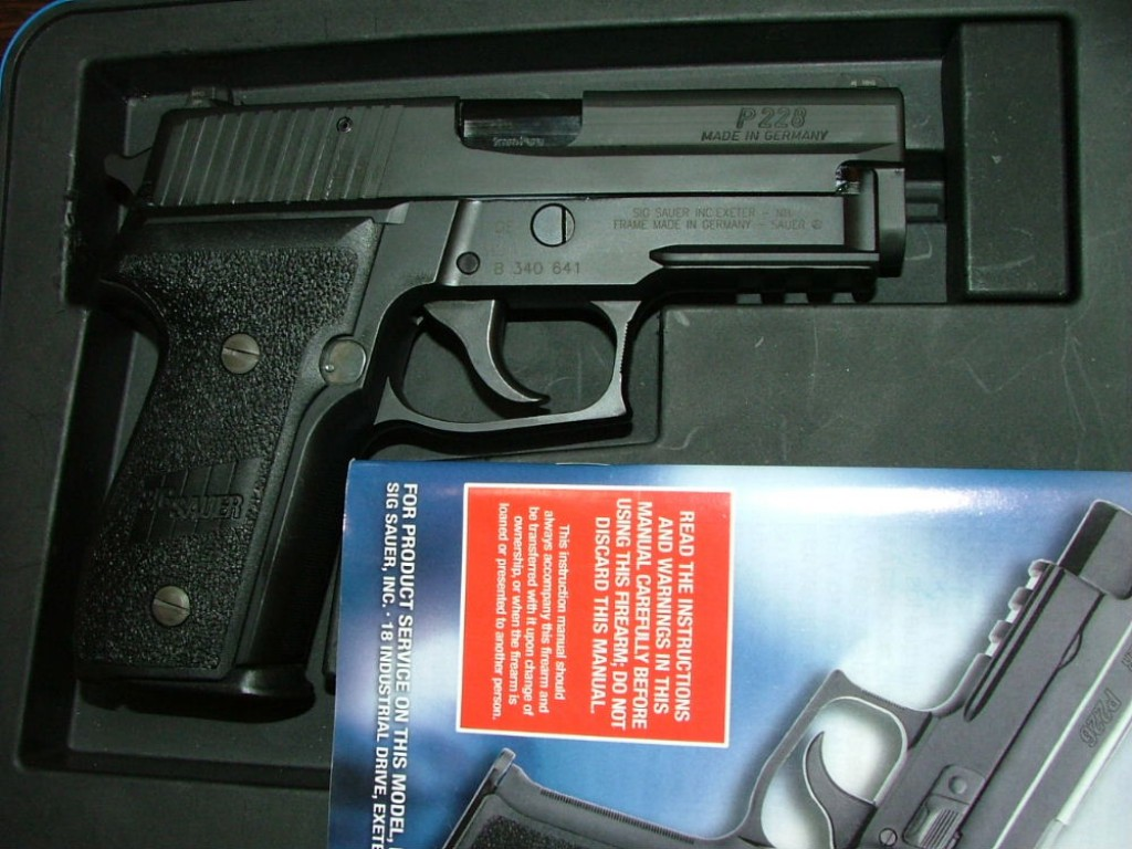 P228 with German-made slide and frame... but assembled in the US.