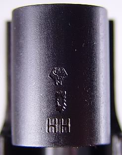 Proof marks and date code on a 1977 SIG P220