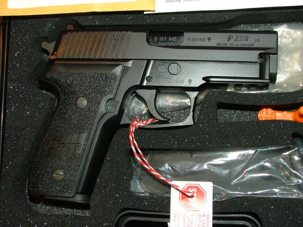 "True ""German made"" P228 with German proof marks"