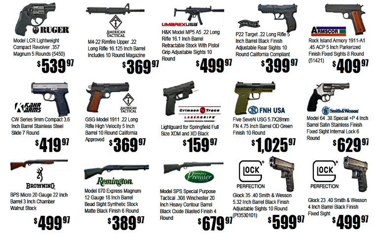 In Stock Guns for Sale and Historical Gun Values ...
