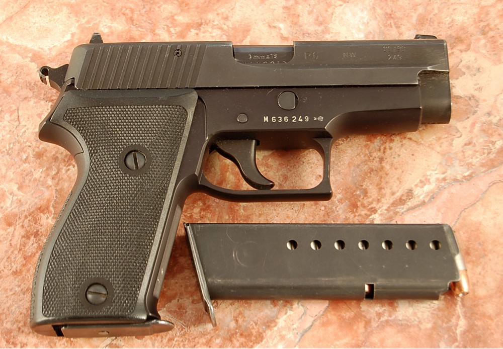 SIG P6 with hammer spur notch