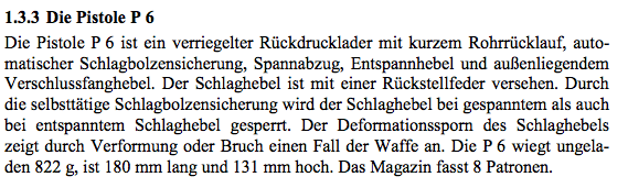 P6 section of German Border Police Manual
