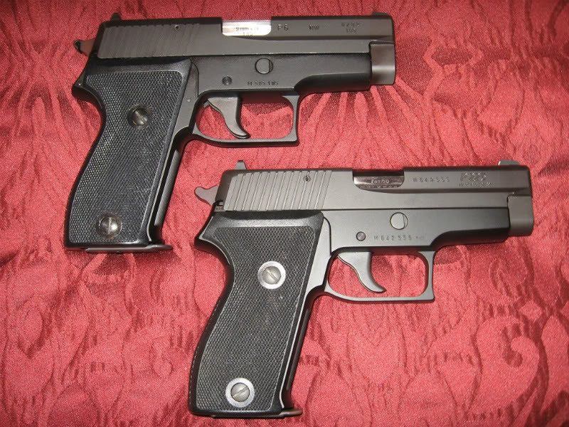SIG Sauer P6 (top) and P225 (bottom)