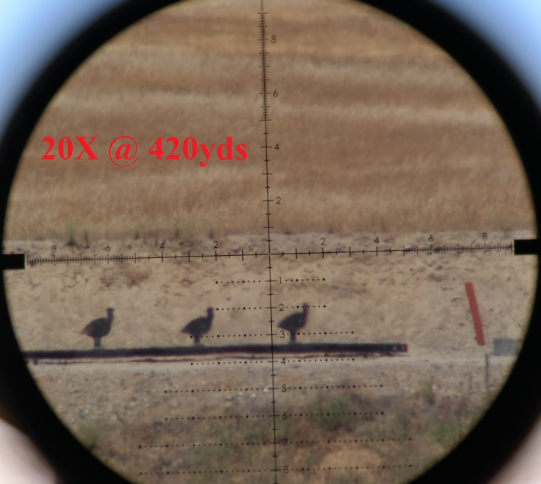 27x magnification at 420 yards