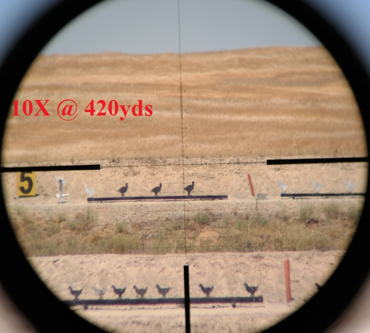 10x magnification at 420 yards